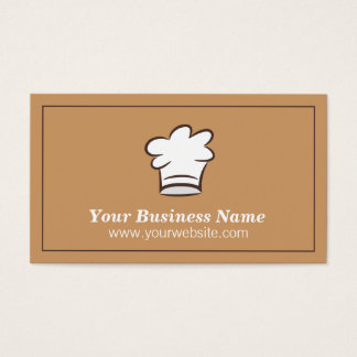 Minimalist, Chef Hat, Food Catering Business Card
