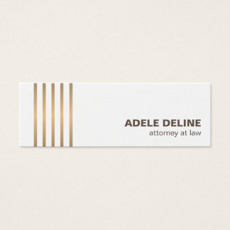 Minimalist Chic Clean Copper Lines Attorney Mini Business Card