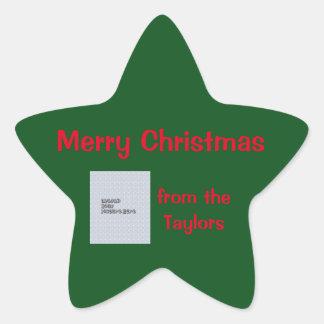 Minimalist Christmas Star Sticker Template
