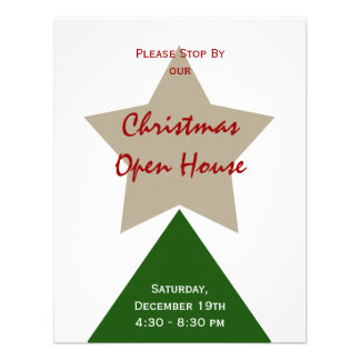 Minimalist Christmas Tree Personalized Announcements