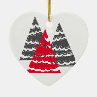 Minimalist Christmas Trees Christmas Ornament