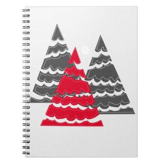 Minimalist Christmas Trees Notebook
