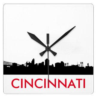 Minimalist Cincinnati Skyline Clock