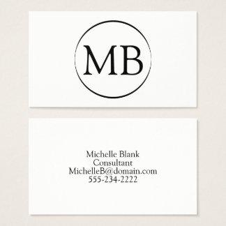 Minimalist Circle Business Card