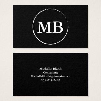 Minimalist Circle Business Card | Black