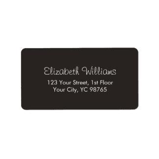 Minimalist Classic Elegant Ivory Black White Label Address Label