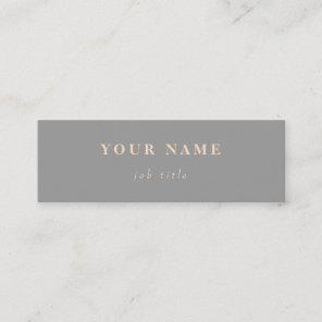 Minimalist Classic Elegant Mini Grey Business Card