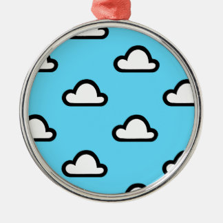 Minimalist Clouds Christmas Ornament