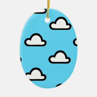 Minimalist Clouds Christmas Ornament