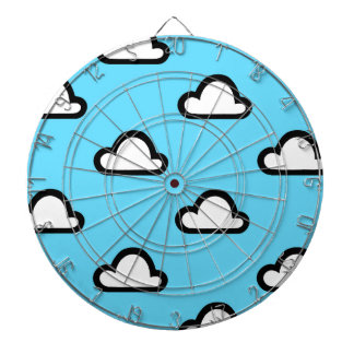 Minimalist Clouds Dartboard