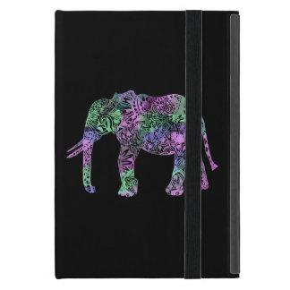 minimalist colorful tribal floral neon elephant iPad mini cover