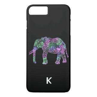 minimalist colorful tribal floral neon elephant iPhone 8 plus/7 plus case