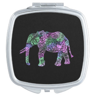 minimalist colorful tribal floral neon elephant mirrors for makeup