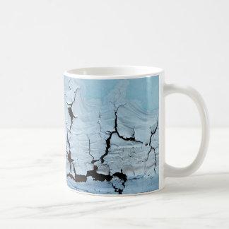 Minimalist Cracked Blue Paint Mug