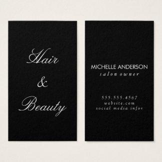 Minimalist Cursive Text | hair and beauty Business Card