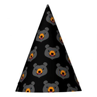 Minimalist Cute Cartoon Black Bear Party Hat