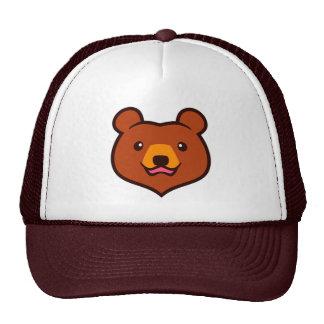 Minimalist Cute Cartoon Grizzly / Brown Bear Face Cap