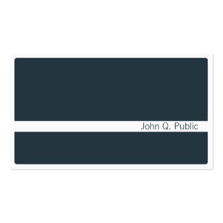Minimalist Dark Grey Blue Pack Of Standard Business Cards