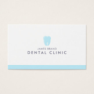 Minimalist Dental Clinic Dentist Business Card