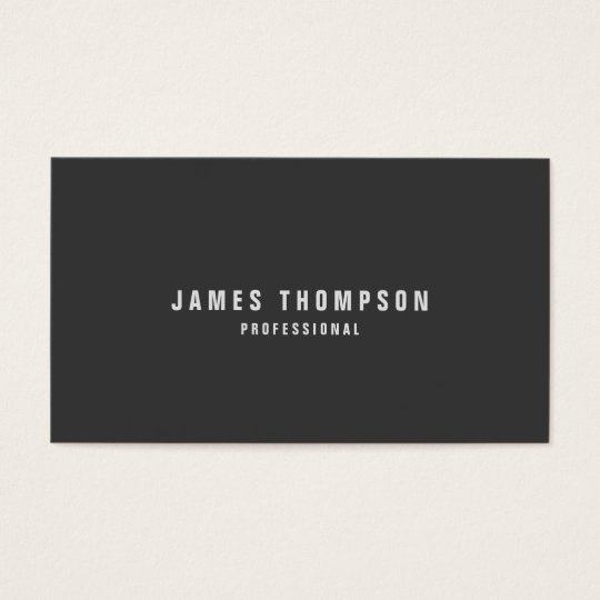 Minimalist Design Custom Colour Professional Business Card