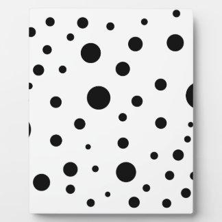 Minimalist dots plaque