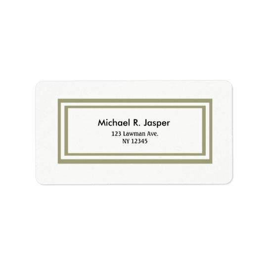 Minimalist Double Gold Frame Address Label
