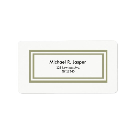 Minimalist Double Gold Frame Label