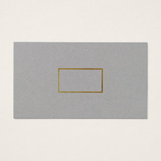 minimalist elegant chic gray premium business card