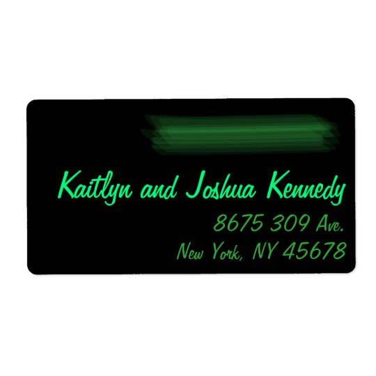Minimalist Elegant Emerald Green Mint  Address