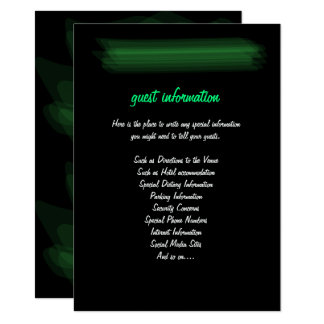 Minimalist Elegant Emerald Green Mint Insert Card