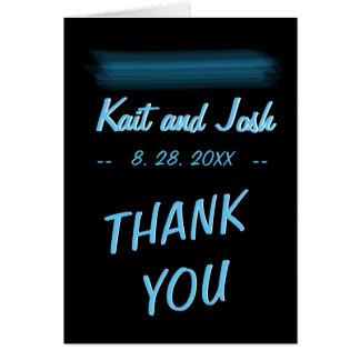 Minimalist Elegant Glowing Gothic Wed Thank You Card