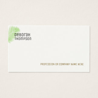 minimalist elegant palm leaf business card