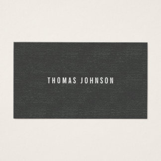 Minimalist  Elegant Texture Grey White Consultant Business Card
