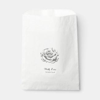 Minimalist Elegant Vintage Rose Wedding Favor Bag