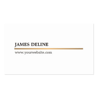 Minimalist Elegant White Copper Line Attorney Pack Of Standard Business Cards