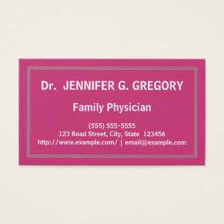 Minimalist Family Physician Business Card