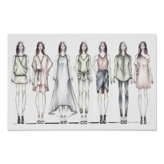 Minimalist Fashion Figures Poster