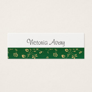 Minimalist Floral Design Modern Personalized Mini Business Card