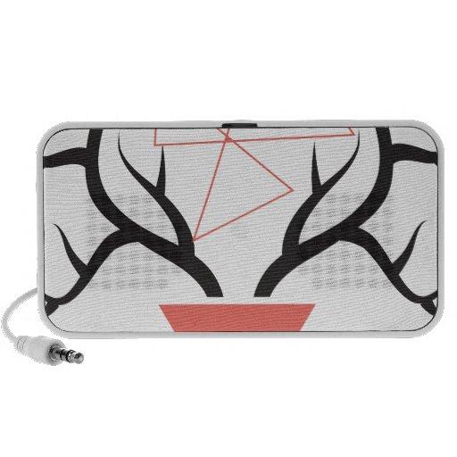 Minimalist Geometric Deer Antlers Portable Speaker
