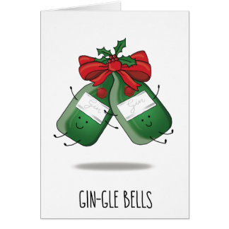 Minimalist Gin-gle Bells   Gin & Tonic Xmas Cards