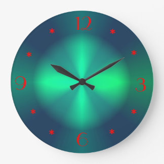 Minimalist Green Red Illuminated  >Wall Clocks