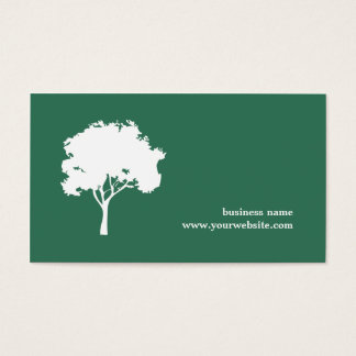 Minimalist Green White Tree Landscaping