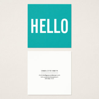 Minimalist Hello Business Cards