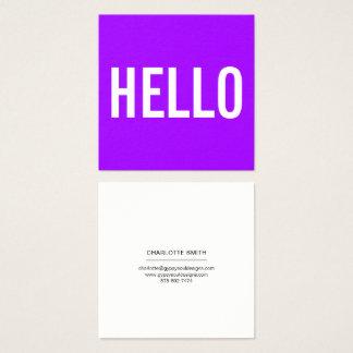 Minimalist Hello Business Cards