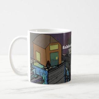 minimalist hoarder basic white mug