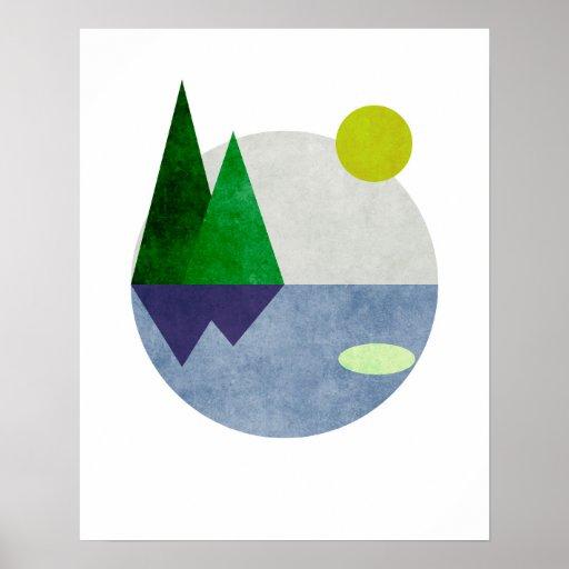Minimalist Landscape Art Poster