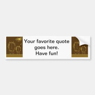 Minimalist Lion - Brown Background Bumper Sticker