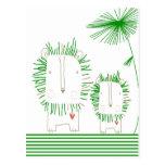 Minimalist Lion - Green