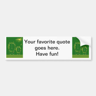 Minimalist Lion - Green and Yellow Bumper Sticker