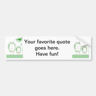 Minimalist Lion - Green Bumper Sticker